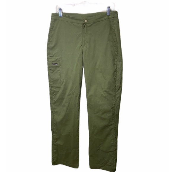 Athleta Nylon Cargo Hiking Pants Green TALL